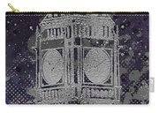 Graphic Art London Big Ben - Ultraviolet And Silver Carry-all Pouch