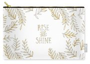 Graphic Art Rise And Shine - Gold And Marble Carry-all Pouch