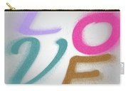 Graphic Display Of The Word Love  Carry-all Pouch