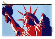 Graphic Statue Of Liberty Red White Blue Carry-all Pouch