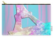 Graphic Style Paris Eiffel Tower Pink Carry-all Pouch by Melanie Viola