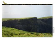 Grass Fields Surrounding The Cliff's Of Moher Carry-all Pouch