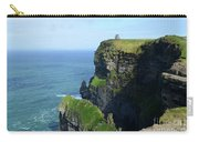 Grass Growing Along The Cliff's Of Moher In Ireland Carry-all Pouch