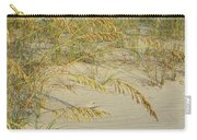 Grass On The Beach Sand Carry-all Pouch
