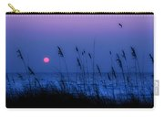 Grasses Frame The Setting Sun In Florida Carry-all Pouch