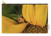 Grasshopper In Sunflower Carry-all Pouch