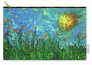 Grassland With Orange Flowers Carry-all Pouch