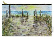 Grassy Beach Post Morning 2 Carry-all Pouch