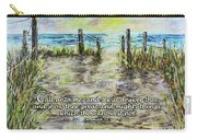 Grassy Beach Post Morning 2 Jeremiah 33 Carry-all Pouch