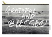 Grateful And Blessed- Art By Linda Woods Carry-all Pouch by Linda Woods