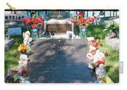 Grave Site At Graceland The Home Of Elvis Presley, Memphis, Tennessee Carry-all Pouch
