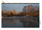 Gray And Amber - An Early Winter Morning On The Lake Shore Carry-all Pouch