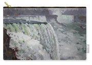 Gray And Cold At American Falls Carry-all Pouch