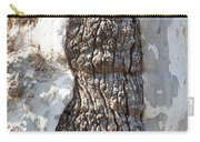 Gray Bark Abstract Carry-all Pouch