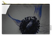 Gray Blue Poppy Carry-all Pouch