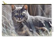 Gray Cat In Woods Carry-all Pouch