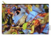 Gray Catbird Framed By Fall Carry-all Pouch