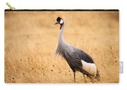 Gray Crowned Crane Carry-all Pouch