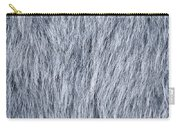 Gray Fake Fur Horizontal Carry-all Pouch