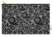 Gray Paisley Design Carry-all Pouch