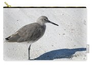 Gray Sandpiper On White Beach Carry-all Pouch