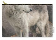 Gray Wolf Profile Carry-all Pouch