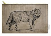 Gray Wolf Timber Wolf Western Wolf Woods Texture Carry-all Pouch