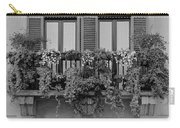 Grayscale Foliage Carry-all Pouch