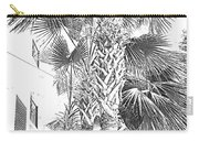 Grayscale Palm Trees Pen And Ink Carry-all Pouch
