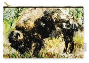 Grazing Bison Carry-all Pouch