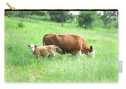 Grazing Cow And Calf Carry-all Pouch