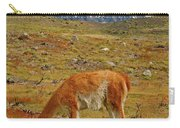 Grazing Guanaco In Patagonia Carry-all Pouch