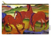 Grazing Horses Iv The Red Horses 1911 Carry-all Pouch