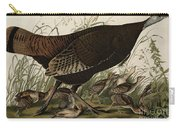 Great American Hen And Young Carry-all Pouch by John James Audubon