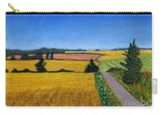 Great Bedwyn Wheat Fields Painting Carry-all Pouch