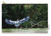 Great Blue Heron And Wood Ducks Carry-all Pouch