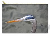 Great Blue Heron At  Morikami Gardens  Carry-all Pouch
