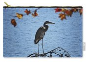 Great Blue Heron At Shores Of King's Mountain Point Carry-all Pouch