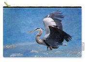 Great Blue Heron  Carry-all Pouch by Betty LaRue