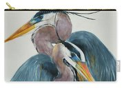 Great Blue Heron Couple Carry-all Pouch by Jani Freimann