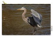 Great Blue Heron - Flooded Creek Carry-all Pouch