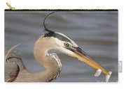 Great Blue Heron Gets Twofer Carry-all Pouch