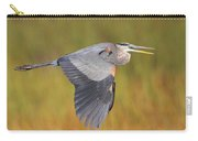 Great Blue Heron In Flight Carry-all Pouch by Bruce J Robinson