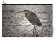 Great Blue Heron In The Snow Carry-all Pouch