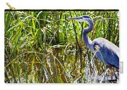 Great Blue Heron In The Wetlands Carry-all Pouch
