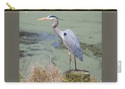 Great Blue Heron Near Pond Carry-all Pouch