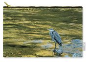 Great Blue Heron On A Golden River Carry-all Pouch