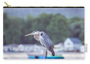 Great Blue Heron On Keuka Lake Horizontal Pano Carry-all Pouch