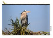 Great Blue Heron On Nest In A Palm Tree Carry-all Pouch