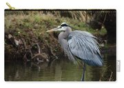 Great Blue Heron On The Watch Carry-all Pouch by George Randy Bass
